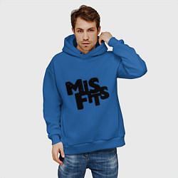 Толстовка оверсайз мужская Misfits цвета синий — фото 2
