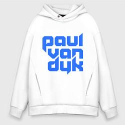 Толстовка оверсайз мужская Paul van Dyk: Filled цвета белый — фото 1