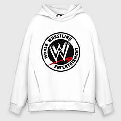 Толстовка оверсайз мужская World wrestling entertainment цвета белый — фото 1