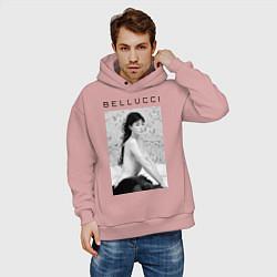 Толстовка оверсайз мужская Monica Bellucci: Romantic цвета пыльно-розовый — фото 2