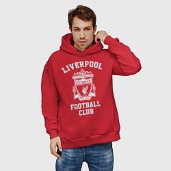 Толстовка оверсайз мужская Liverpool: Football Club цвета красный — фото 2