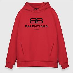 Толстовка оверсайз мужская Balenciaga Paris цвета красный — фото 1