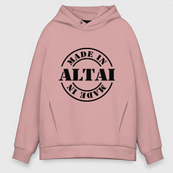 Толстовка оверсайз мужская Made in Altai цвета пыльно-розовый — фото 1