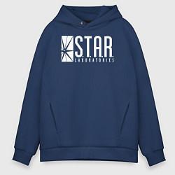 Толстовка оверсайз мужская S T A R Labs цвета тёмно-синий — фото 1