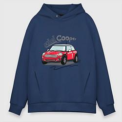 Толстовка оверсайз мужская Mini Cooper цвета тёмно-синий — фото 1