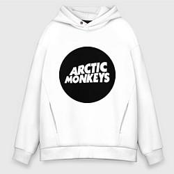 Толстовка оверсайз мужская Arctic Monkeys Round цвета белый — фото 1