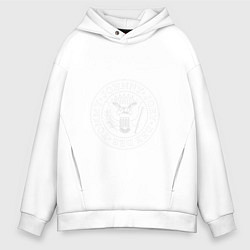 Толстовка оверсайз мужская Ramones цвета белый — фото 1