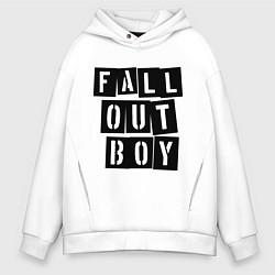 Толстовка оверсайз мужская Fall Out Boy: Words цвета белый — фото 1