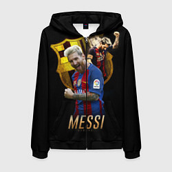 Толстовка 3D на молнии мужская Messi Star цвета 3D-черный — фото 1