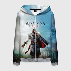 Толстовка 3D на молнии мужская Assassins Creed цвета 3D-меланж — фото 1