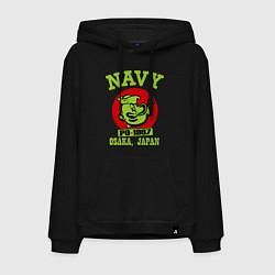 Толстовка-худи хлопковая мужская Navy: Po-1967 цвета черный — фото 1