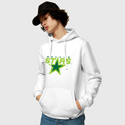 Толстовка-худи хлопковая мужская Dallas Stars цвета белый — фото 2
