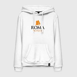 Толстовка-худи хлопковая мужская AS Roma 1927 цвета белый — фото 1