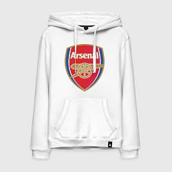 Толстовка-худи хлопковая мужская Arsenal FC цвета белый — фото 1