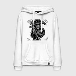 Толстовка-худи хлопковая мужская Sons of Anarchy: Redwood Original цвета белый — фото 1