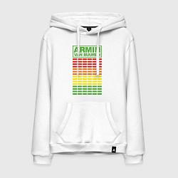Толстовка-худи хлопковая мужская Armin van Buuren: EQ цвета белый — фото 1