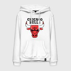 Толстовка-худи хлопковая мужская Chicago Bulls цвета белый — фото 1