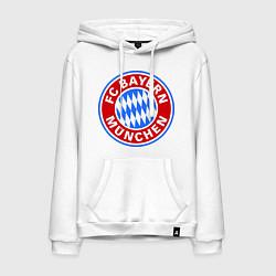 Толстовка-худи хлопковая мужская Bayern Munchen FC цвета белый — фото 1
