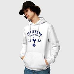 Толстовка-худи хлопковая мужская FC Tottenham 1882 цвета белый — фото 2
