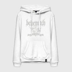 Толстовка-худи хлопковая мужская Behemoth: The Satanist цвета белый — фото 1