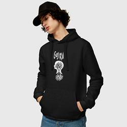 Толстовка-худи хлопковая мужская Gojira цвета черный — фото 2