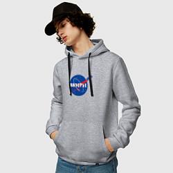 Толстовка-худи хлопковая мужская NASA Delorean 88 mph цвета меланж — фото 2