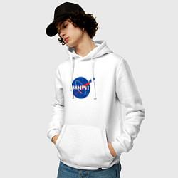 Толстовка-худи хлопковая мужская NASA Delorean 88 mph цвета белый — фото 2