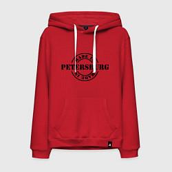 Толстовка-худи хлопковая мужская Made in Petersburg цвета красный — фото 1