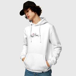Толстовка-худи хлопковая мужская Джизус тур цвета белый — фото 2