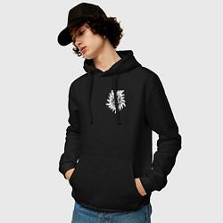 Толстовка-худи хлопковая мужская Supernatural Pentagram цвета черный — фото 2