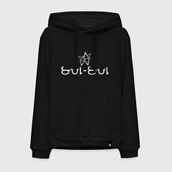 Толстовка-худи хлопковая мужская SUL SUL - Коллекция HG цвета черный — фото 1