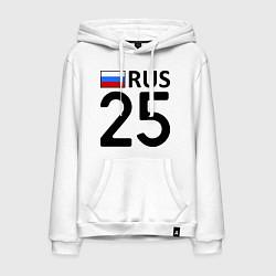 Толстовка-худи хлопковая мужская RUS 25 цвета белый — фото 1