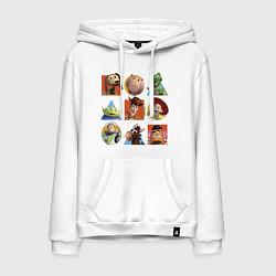 Толстовка-худи хлопковая мужская Toy Story цвета белый — фото 1