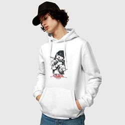 Толстовка-худи хлопковая мужская Chelsea Grin: Demon Girl цвета белый — фото 2