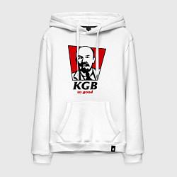 Толстовка-худи хлопковая мужская KGB: So Good цвета белый — фото 1