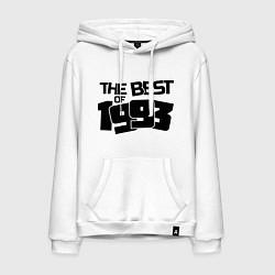 Толстовка-худи хлопковая мужская The best of 1993 цвета белый — фото 1