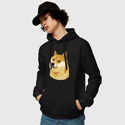 Мужская толстовка с капюшоном с принтом Doge, цвет: черный, артикул: 10053122000010 — фото 2