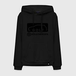Толстовка-худи хлопковая мужская Фольцваген гольф цвета черный — фото 1