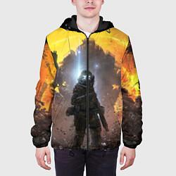 Куртка с капюшоном мужская Titanfall: Robots War цвета 3D-черный — фото 2