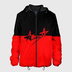 Куртка с капюшоном мужская АлисА: Черный & Красный цвета 3D-черный — фото 1