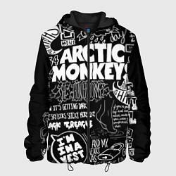 Куртка с капюшоном мужская Arctic Monkeys: I'm in a Vest цвета 3D-черный — фото 1