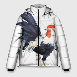 Куртка зимняя мужская Петух Символ 2017 года 8 цвета 3D-черный — фото 1