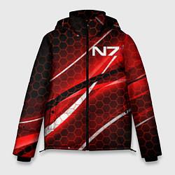 Куртка зимняя мужская MASS EFFECT N7 цвета 3D-черный — фото 1
