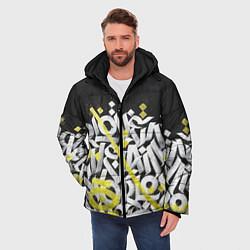 Куртка зимняя мужская GRAFFITY цвета 3D-черный — фото 2