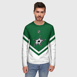Лонгслив мужской NHL: Dallas Stars цвета 3D — фото 2