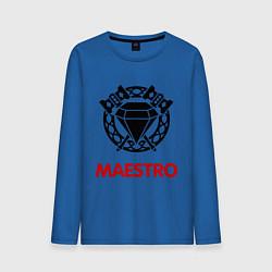 Лонгслив хлопковый мужской Dwarf Fighter - Maestro цвета синий — фото 1