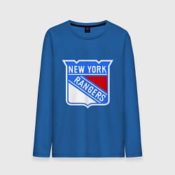 Лонгслив хлопковый мужской New York Rangers цвета синий — фото 1