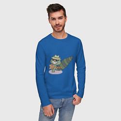 Лонгслив хлопковый мужской HTF: Lifty цвета синий — фото 2