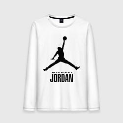 Лонгслив хлопковый мужской Jordan Style цвета белый — фото 1