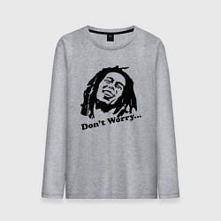 Мужской лонгслив Bob Marley: Don't worry